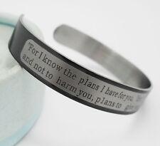 12pcs Jeremiah 29:11 Lord's prayer Bibie Stainless steel Bracelets Men's Bangles