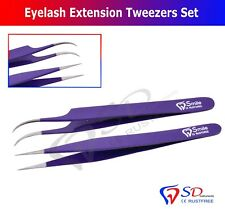 Swiss Quality Tweezers Straight Curved For Individual Eyelash Extensions Colored
