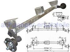"""HGW 750 kg. Achse """"erhöhte Böcke"""" MB8 von Schlegl - 1300 mm - 4*100"""