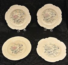 Set 4 Antique Pembroke Old Coalport England Kings Ware Dinner Plates with Bird