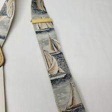 Trafalgar Braces Sailing Suspenders Sailboats Nautical Regatta Silk Leather