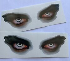 Evil Eyes Stickers Decals for Car Motorcycle Helmet Laptop Van 2x Pair 100mm #01