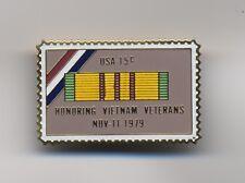 Vintage Honoring Vietnam Veterans USA 15 cent USPS Postage Stamp Lapel Pin