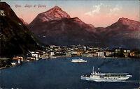 Riva Lago di Garda Gardasee Italia Color AK 1925 gelaufen Panorama Schiffe Stadt