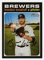 2020 Topps Heritage #374 BRANDON WOODRUFF Milwaukee Brewers 1971 STYLE CARD