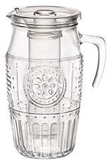 Glaskrug 1,8l mit Eisbehälter und Deckel Karaffe Krug Saftkrug