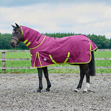 Swish Equestrian Lightweight Turnout Rug with Detachable Neck 50g Turnout Rug Purple