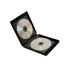 50 Premium Grade 12 Disc Black CD DVD PP Poly Cases with Refill Sleeves