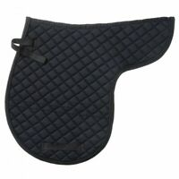 EquiRoyal Black Contour Quilted English Saddle Pad  Horse Tack Equine 30-920