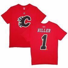 NHL T-Shirt Calgary Flames Jonas Hiller 1 rot Trikot Jersey Eishockey Player