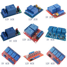 5/12V 1/2/4/8 Channel Relay Board Module Optocoupler LED for Arduino PiC ARM AVR