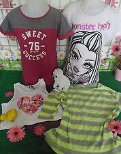 vêtements occasion fille 10 ans,t-shirt MONSTER HIGH,débardeur ORCHESTRA,t-shirt