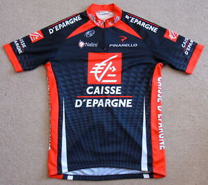 """VERY GOOD CONDITION CAISSE D'EPARGNE PRO TEAM JERSEY NALINI XL 41"""" CIRCUMFERENCE"""