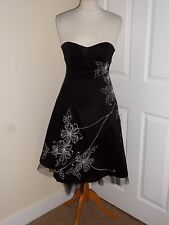 BAY WEDDING EVENING PARTY PROM STRAPLESS DRESS SIZE UK 8