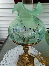 """FENTON ART GLASS 2001 LAMP """"WHISPERING WINDS ON WILLOW GREEN"""""""
