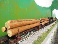 Shay Logging Locomotive Alabama-made Pine Log Load for Kadee Log Cars Sawmill