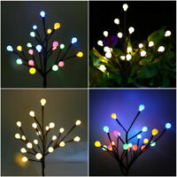 Outdoor Solar Powered LED Fairy Lights Multi-Color Flowers Party Decoration Lamp