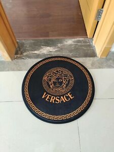 *HOT OFFER* Versace Medusa Carpet Round Rug Diameter 60cm Luxury Hot Gold
