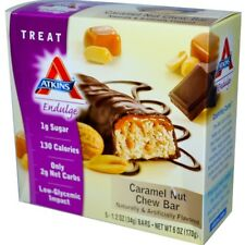 10 BOXES X ATKINS Caramel Nut Chew - 50 BARS OF ATKINS LOW CARB SNACKS BARS