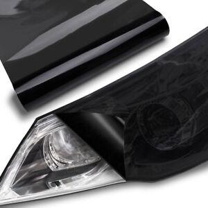30*100cm Gloss Dark Smoke Black Tint Film Sticker Headlight Fog Light Wrap Cover