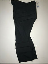 New listing New Black Adult Small Silver Lining Padded Protective Lycra Ice Skating Capris