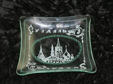 Vintage Soviet Glass Trinket Dish Souvenir From SUZDAL USSR