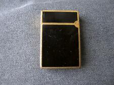 Vintage S T Dupont Paris Black Laque de Chine Lighter Working