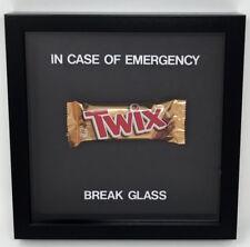 In Case Of Emergency Break Glass Chocolate Twix Novelty Gift Frame