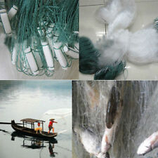 Clear Green White Fishing Fish Mesh Trap Nylon Monofilament Gill Net 25M x0.7M