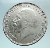 1927 Great Britain United Kingdom UK GEORGE VI Silver Half Crown Coin i81000