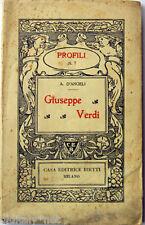 1939 A.D'Angeli GIUSEPPE VERDI - Profili Casa Editrice Bietti n°7