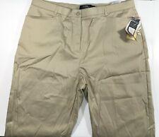 Tribal Stretch Extensible Capri Pants For Womens 16 Light Khaki NWT 98% Cotton