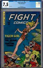 FIGHT COMICS #70-CGC 7.5- 1950 KAMEN ARTWK,HIGRADE COPY-TIGERGIRL