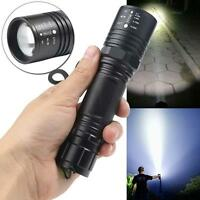6000 LM XM-L T6 LED Zoomable Flashlight Torch Lamp Light 18650 Batterry GA