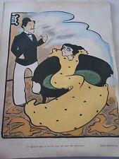 Caricature 1900 de Rouveyre Romance tu attends quoi pour me faire des ouvertures