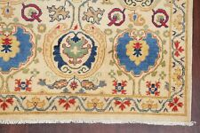 Art & Craft Mission Style Super Kazak Area Rug Hand-Knotted Geometric Carpet 6x9