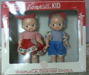 Vintage Campbell's Soup Kids RARE Horsman Replica Series Dolls Limited 1997