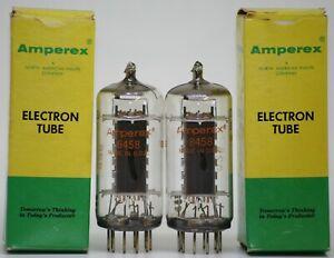 8458 YL1240 tube NOS Amperex pair valvola valve black plate MTL-50 2G70 A minix