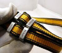 Nikon Camera Strap Black with yellow stripes Genuine OEM    free shipping USA