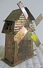 Euc Vintage Music Decor Copper Music Box Windmill Of My Mind Made in Hong Kong