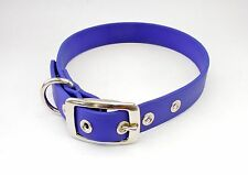 """Faux Leather Buckle Dog Collar - Biothane - Various Collars 5/8"""" & 1"""" widths"""