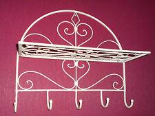 Garderobenhaken Hakenleiste mit 5 Haken aus Eisen mit Ablage 46cm breit/ 44 hoch