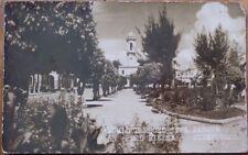 Cienfuegos, Cuba 1930s Realphoto Postcard: Angulo Derecho del Parque