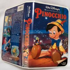 Walt Disney Pinocchio VHS Animated Movie Masterpiece Collection 1993 Rare TipTop