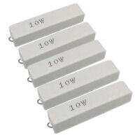 US Stock 5pcs 500 ohm 500RΩJ 10 watt Axial Ceramic Cement Power Resistor 10W