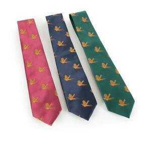Shires Show Tie in Navy/Pheasant - onesize