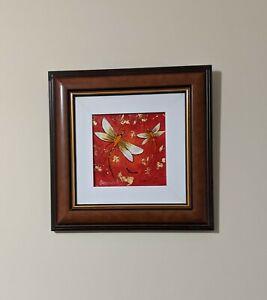 "Howard William Steer Original Acrylic Painting Titled ""DRAGONFLIES"""