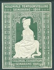 JAVA 1914 Colonial Exhibition large mint Cinderella stamp (Green)