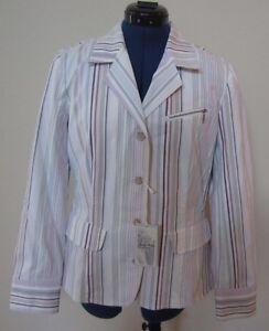 Indigo Palms Tommy Bahama Multi Color Striped Jacket Blazer Women's Medium NWT