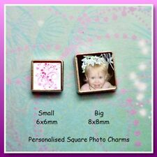 Personalised Square Photo Charm - Big 8mmx8mm